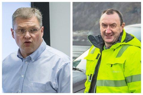 Frode Øren(t.v) og Ove Dyrdal har jobba mot eit hyttefelt på Gaularfjellet. Men det ser ut som at Statsforvaltaren kan lage trøbbel for dei.