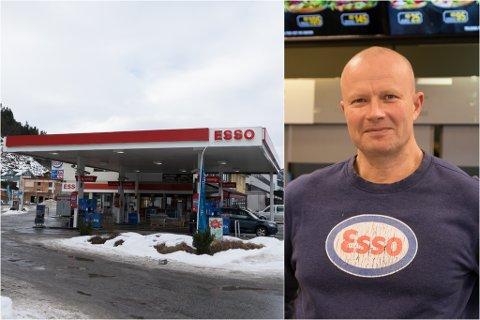 NYE PLANAR: Esso-stasjonen i sentrum sør i Førde har ei spennande tid i vente.