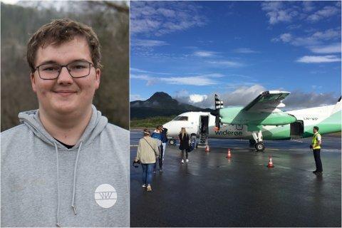 FLYGLAD: Oscar Eliassen Fink strekk seg lenger enn mange for å sikre seg eit Eurobonus-gullkort.