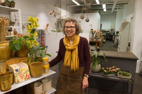 LANG FARTSTID: I oktober som kjem har Astrid Grethe Elvetun drive blomsterbutikk i 40 år.