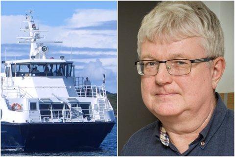 BEREDSKAP: Brannsjef Olav Nordgulen i Høyanger kommune jobbar no med å få sett inn ekspressbåten «Tansøy» til å ta ekstraruter og sikre beredskap på Høyanger sørside medan vegen til Oppedal er stengt.