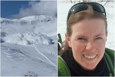 EKKELT: Synnøve Berget vart vitne til at eit stort skred gjekk der ho nettoppp hadde sett folk køyre ned.