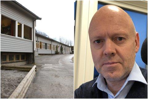 BLAR OPP: Kommunedirektør Anders Skipenes får bruke ein halv million kroner på strakstiltak ved Hyen skule. Det bestemte kommunestyret i Gloppen onsdag.