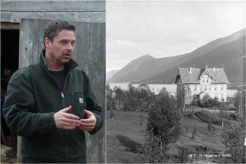 NIELSENS HOTELL: Slik såg hotellet ut på slutten av 1800-talet. Fotografiet er tatt av Knud Knudsen (1832-1915). Han reiste rundt i Norge og fotograferte landskap og folkeliv retta mot den veksande turismen. Til venstre er Stig Nordrumshaugen.