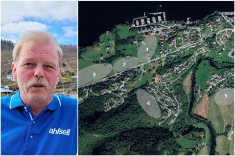 TOMTEMANGEL: Endre Lykkebø (54) vil setje lys på tomtemangelen i Dale.