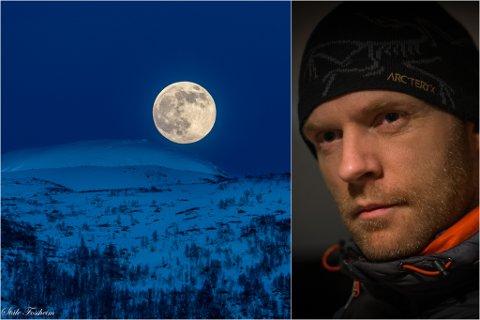 SUPERMÅNE: Ståle Fossheim (39) knipsa dette bildet av supermånen på måndag klokka 21.30. Natt til torsdag stod han opp midt på natta for å ta fleire.