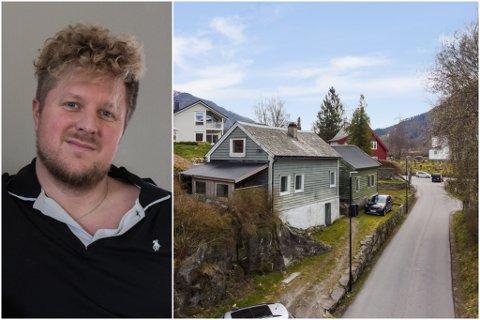 BARNDOMSHEIM: Frank Petter Holmestrand Langeland sel barndomsheimen midt i Førde sentrum.
