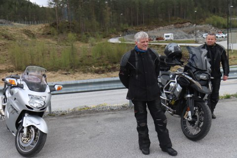 PÅ TUR: Frode Berge og Hallvard Skagen.