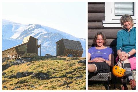 STYRARAR: Laila Hjellvoll (t.v.) og Randi Bjørnbeth er styrarar på Tungestølen turisthytte.