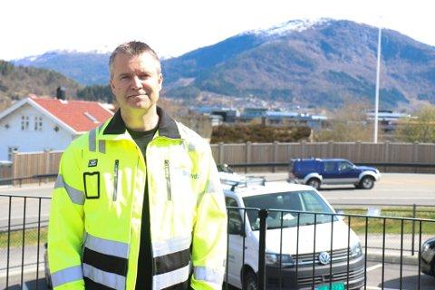 STOROPPDRAG: Svein Inge Midtun er avdelingssjef ved Bravida i Førde.