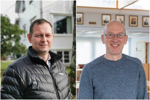 Ordførar Kjetil Felde (Sp) og varaordførar Leif Jarle Espedal (Ap)