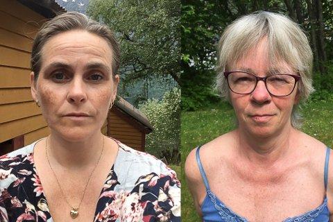 FOR KORT: Frå venstre: Tone Kristin Morken, tillitsvald i Fellesforbundet og Hildegunn Tviberg, tillitsvald i Norsk sykepleierforbund, meiner at tre veker er for kort tid å hente seg inn att på. Dei fryktar ordninga vil slite ut dei tilsette.