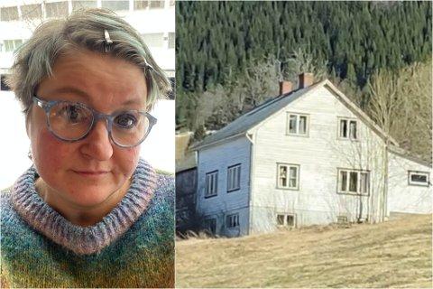 GIR OPP Å PUSSE OPP: Dette huset arva Gjengedal i 1996, og målet var å pusse det opp. Det legg ho no frå seg, og sel huset.