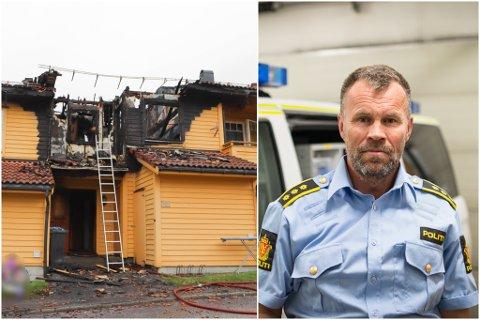 SNART FERDIG: Politisjef i Sunnfjord, Dag Fiske, seier at dei i løpet av fredag vil bli ferdige med avhøyr. Neste veke vil ein brannkrimteknikar gjere undersøkingar på skadestaden.