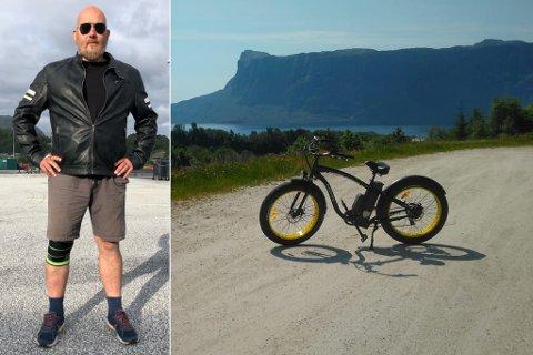 TRENG DENNE: Sykkelen gjorde livet til Arnt Wilhelm Milde lettare. Den eit viktig framkomstmiddel, men også ein måte å halde knesmerter i hevd på.