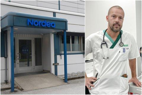ALLE TESTA: Alle nærkontaktane til den tilsette ved Nordea Direct i Førde, er testa.