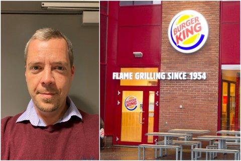 TETT DIALOG: Norgessjef i Burger King, Olav Bæverfjord, er glad for at den smitta etter forholda har det bra. Kjeda har tett dialog med smittevernkontoret i Sunnfjord kommune.