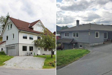 PÅ TOPPEN: I Sunnfjord kommune var det Gamle Vievegen 4 (til høgre) som gjekk for høgst sum i marknaden i juli. Her var salssummen 7.050.000 kroner. Hornnesbøen 14 vart selt for 6.750.000 kroner same månad.