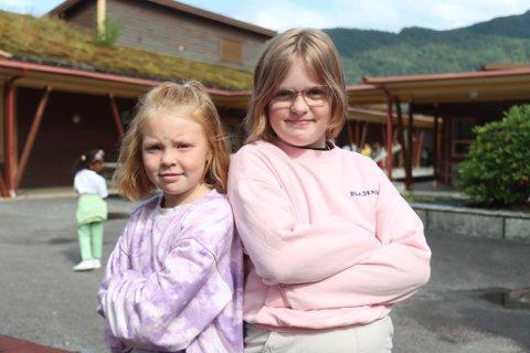 Astrid Loen-Nataas (8) og Elisabeth Sund Stubhaug (10)