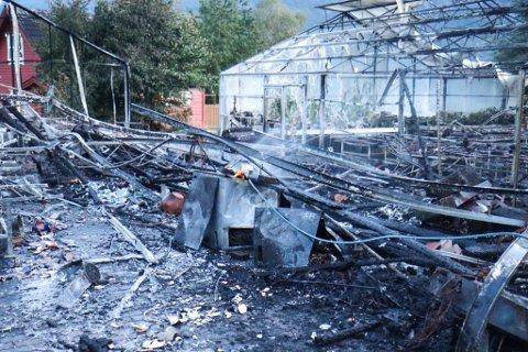 FARE: Det var ei stund fare for at brannen kunne spreie seg, men til alt hell greidde brannmannskapet å stoppe det.