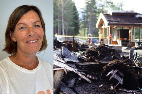 SOLID STØTTE: All støtta gjer at styreleiar og dugnadsfolket i Trivelsskogen boblar over etter å starte med gjenoppbygginga av gapahukane som brann ned.