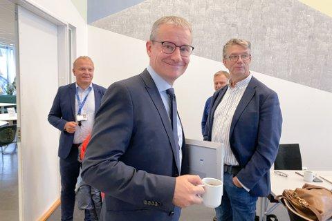 I FORMANNSKAPET: Helge Robert Midtbø (Ap), Olve Grotle (H) og Håkon Myrvang (Ap)