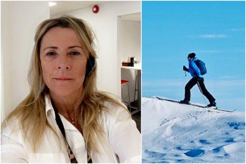 MOT VIK: Hildegard Valland byter jobb frå Høyanger kommune til Vik kommune. Ho er glad i turar og friluftsliv, og ekstra passande er det at på bildet til høgre er ho på veg mot Vik.
