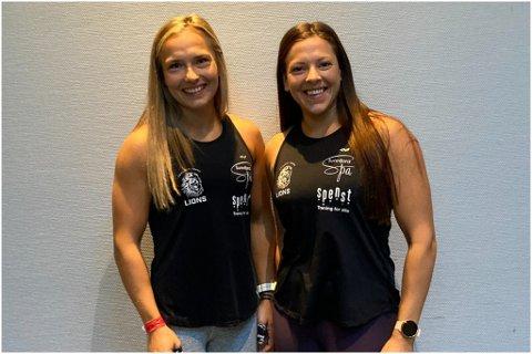 KONKURRANSE: Christina Hopen og Mariel Rørstadbotnen skal i elden på norgesmeisterskapet i Functional fitness.