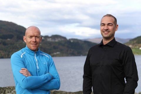KREATIVE: Kai Vidar Nygård og Daniel Levy i Sunnfjordparken og Verftet manglar ikkje inspirasjon når dei utviklar nye konsept.
