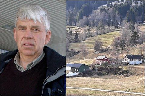 FINN IKKJE FRAM: Magnar Hellebust opplever at fleire ikkje finn fram til huset hans i Viksdalen etter at han fekk ny vegadresse av kommunen.