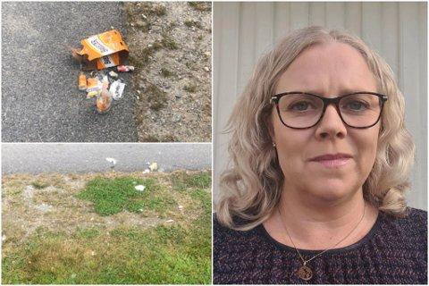 GLASBROT: Søndag fekk einingsleiar Hege Herland Kjeilen melding om glasbrot og boss i barnehagen. – Det er uheldig, seier ho.