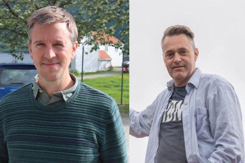 OPP OG NED: Sp og Erling Sande går opp 1,8 prosentpoeng, medan MDG og Marius Dalin går ned 2,1 prosentpoeng, ifølge ei meiningsmåling for september.