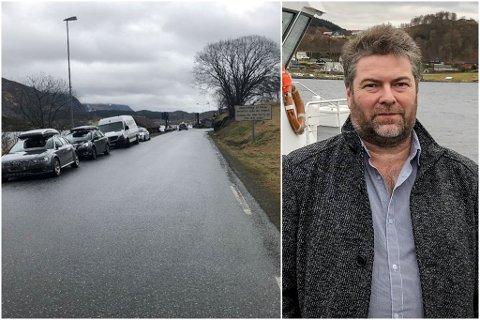 – GLEDELEG: Bjørn Arne Mjåseth, fungerande leiar i Atløy Vel, er glad for at Gjervik ferjekai no blir utbetra.
