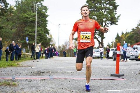 Raskest: Andreas Myhre Sjurseth fra SK Vidar var raskest med tiden 1.09.55. Han skrøt av forholdene i marka.