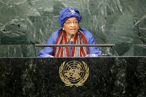 President  Ellen Johnson Sirleaf talte for FNS generalforsamling i september.