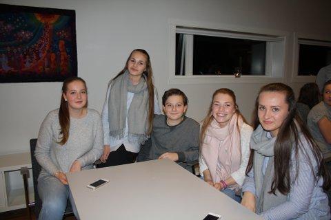 Gleder seg: Fra venstre: Emma Alfredsen, Malin Andreassen, Michael Frantz, Ida Synnøve Kristiansen og Victoria Helene Nellqvist.
