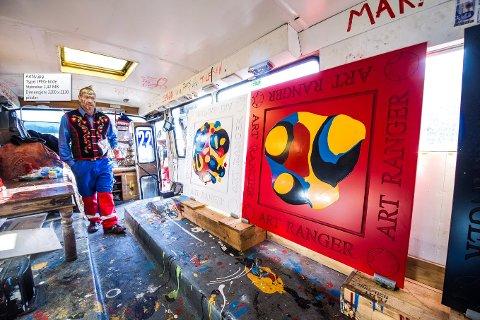 KUNST: Slutt på bråk rundt Ingar Aasens camp på Øra, og Art Ranger er glad for at det nå handler om kunst igjen.