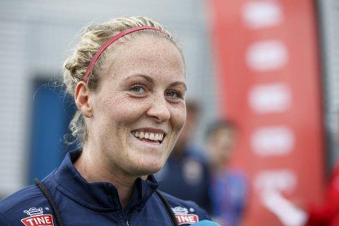 Best: Isabell Herlovsen ble kåret til banens beste av FIFA etter kampen mot Thailand.