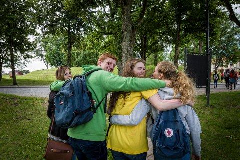 Ungdommene har blitt gode venner på de få ukene.