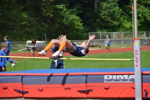 NESTEN: Hanna Oksmo var nær ved å ta seg videre i høydekonkurransen.