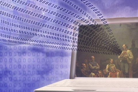 Hauge i cyberspace:  Kronikkforfatterne skriver at arven etter Hans Nielsen Hauge rommer så mye mer enn seksualmoral.  – Heri ligger hans storhet som troende menneske og som humanist, skriver Maktabi og Negaard og innbyr til temakveld om Hauge i «den nye verden». Montasje: Erik Hagen