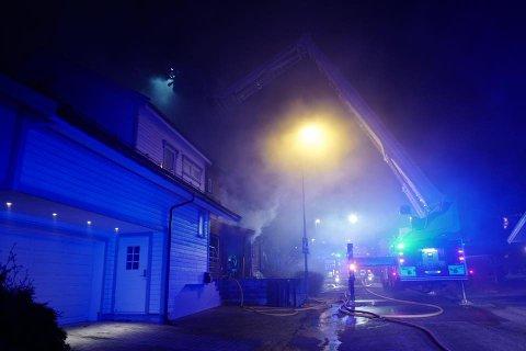 Fra brannen på Kurland i Sarpsborg