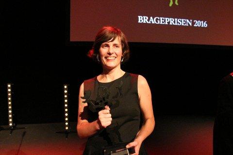 VANT: Monica Isakstuen var ikke forberedt på å vinne Brageprisen, men det gjorde hun.