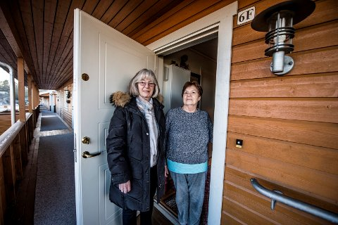 Fortviler: Wivi Haugland og Unni Utne-Enock fortviler etter tyveriraidet av julekranser. – Nå bør andre passe på! sier de.