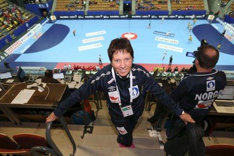 ANALYSESJEF: Wenche Halvorsen Stensrud i Helsingborg tidlig i mesterskapet. Foto: Vidar Ruud / NTB scanpix