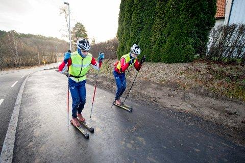 Deltok i norgescupen: Brødrene Jørgen og Erik Stigen deltok i helgens norgescup på Konnerud.