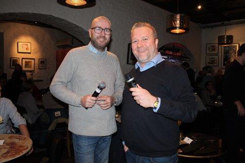 Lars Corleone og Morten Marius inviterte på Romjulsquiz.