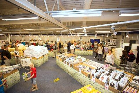 PALLESALG: Slik ser det ut i Illebilli-butikken i Mysen. Foto: NordicForm