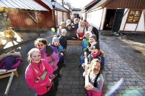 Ringvirkninger: Vintercamp for barn i Anno-landsbyen er ett eksempel på hvordan tv-serien gir nye muligheter. fredrikstad opplever økt attraktivitet, noe Trondheim vil lære av som neste Anno-by.