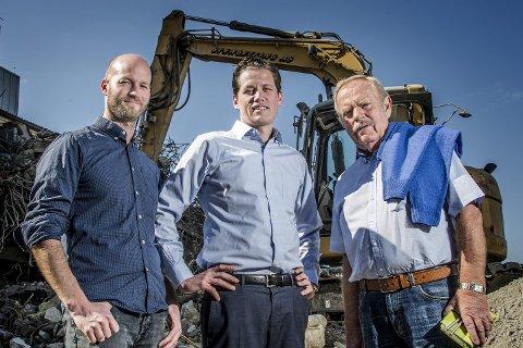 Vil påvirke: Sander Grundvig, Morten Fredriksen og Arild Aaserud liker muligheten de har til å påvirke utviklingen i byen.